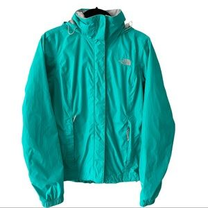 The North Face Teal Windbreaker Jacket XS